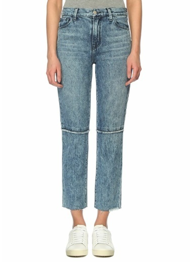 J Brand Yüksek Bel Boru Paça Jean Pantolon Mavi